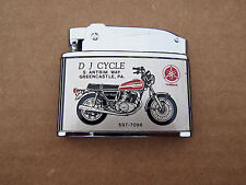 Vintage DJ Cycle Greencastle,Pa Yamaha Motorcycle Snowmobile Advertising Lighter