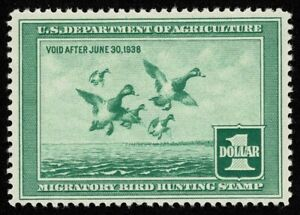 Scott#RW4 $1 Back of Book Federal Duck Mint NH OG Never Hinged Well Centered