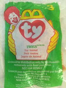 McDonald's 1998 Happy Meal Toy Twigs The Giraffe #3 Teenie Beanie Baby - Sealed