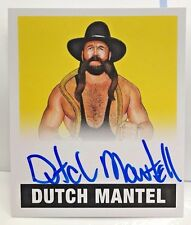 Dutch Mantel 2017 Leaf Originals Wrestling YELLOW on-card Autograph Auto #'d/99