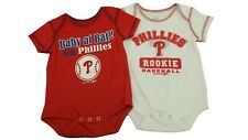 Philadelphia Phillies Creeper MLB Official Infant Size 2 Piece Bodysuit Set New