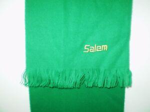 """Salem Cigarettes Scarf 48"""" RJRTC Embroidered Logo Fringe Green Made in France *D"""