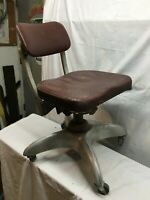 Vtg Goodform Tanker Swivel Rolling Office Chair Propeller Base Aluminum