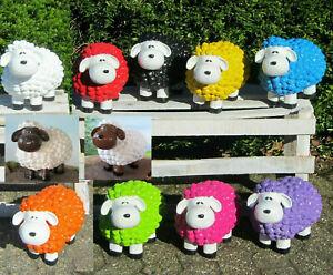 Lustige bunte Schafe farbige Woll Schaf Figur Deko farbig bunt Garten B-Ware
