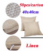 50pcs/pack Linen Sublimation Blank Pillow Case Cushion Cover