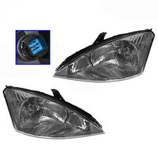 00-04 Ford Focus Headlights Headlamps Pair  Left & Right ...NEW