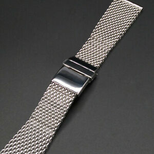 24mm Mesh Stainless Steel For Breitling Heritage Superocean Watch Band Bracelet