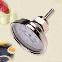 """1/2""""Stainless Steel Thermometer for a Moonshine Still Condenser or Brew Pot"""