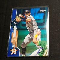 2020 Topps Chrome Carlos Correa BLUE HOLO #'d /150 Refractor #29 Houston Astros