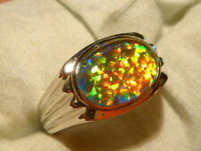 Opal Sterling Silver Rings for Men