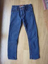 """Pantalon garçon T 11-12 ans H et M, coupe """"slim fit"""", bleu"""