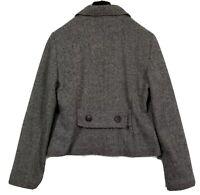 GAP Blazer Womens Size 10 Black Gray White Pink Wool Blend Lined Jacket Coat