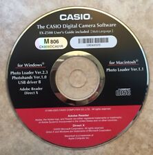 Casio Digital Camera Software EX-Z500 CD-ROM Disc With User's Guide