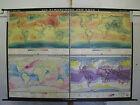 Schulwandkarte Wall Map Atmosphere Der Earth T1 4x 30Mio 226x160 1963-1966
