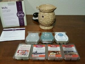 Scentsy Malta - Beige Ceramic Electric Warmer - New w/ 7 Bonus Waxes to Try