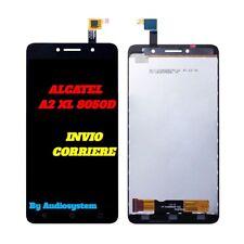 DISPLAY LCD+TOUCH SCREEN per ALCATEL A2 XL OT-8050D NERO VETRO RICAMBIO NUOVO
