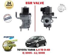 FOR TOYOTA YARIS 1.4 TD D4D NLP90 1ND-TV 2005-11/2008 NEW EGR VALVE EXHAUST GAS