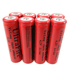 8X 3.7V-4.2V 18650 Li-ion 6000mAh Rechargeable Battery for Flashlight Accu BRC