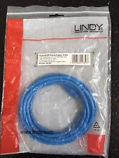 LINDY 3m CAT6 UTP Snagless Network Cable Blue