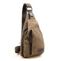 Men Canvas Military Messenger Shoulder Travel Hiking Crossbody Bag Backpack Hot