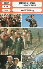 Movie Card. Fiche Cinéma. Empire du soleil (USA) Steven Spielberg 1987