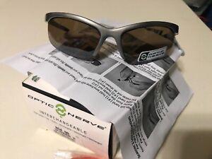 Optic Nerve Scanner 2 Interchangeable Lenses Half Frame Lightweight Sunglasses