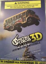 Promotional Movie Flyer For Nitro Circus 3D The Movie *NOT A DVD*