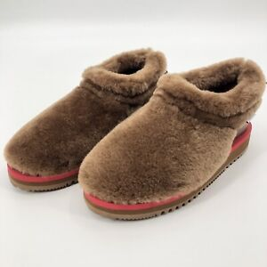 Suicoke Aries Collab Brown Ron Mid Slip On Boots Loafer Sz US 6 Men's Shearling