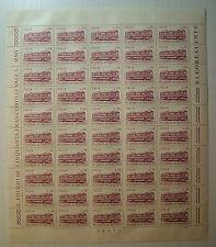 1972  ITALIA  25 lire XIV Giornata del Francobollo  foglio intero MNH**