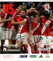 Multi Signed Programme Middlesbrough V Charlton Athletic Plus Ticket