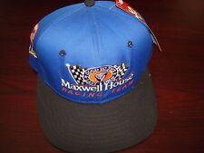 NASCAR RACING AJD MAXWELL HOUSE COFFEE  SCRIPT  VINTAGE 90'S HAT CAP  SNAPBACK