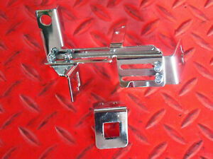 Throttle cable bracket w/ Auto kick down bracket Chrome Universal GM FORD DODGE