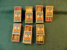 7 Vintage Sir Walter Raleigh Smoking Tobacco Matches Matchbox Made In Sweden