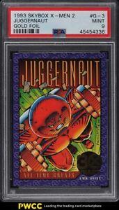 1993 Skybox X-Men 2 Gold Foil Juggernaut #G-3 PSA 9 MINT