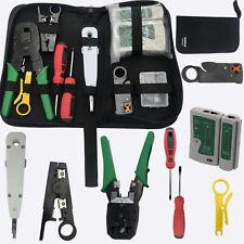 RJ45 Ethernet Network Cable Tester Crimping Crimper Stripper Cutter Tool Kit Set