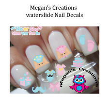 Baby Shower Gender Reveal Boy or Girl Nail Art Decals