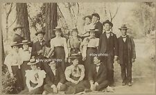 1898 Mill Valley California picnic? - Man at right Chaperone? Group of Men Women