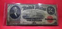 SERIES OF 1917 $2 TWO DOLLAR UNITED STATES NOTE, Large Size, Red Seal
