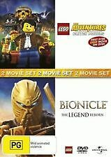 LEGO: THE ADVENTURES OF CLUTCH POWERS + BIONICLE - BRAND NEW & SEALED 2-DISC DVD