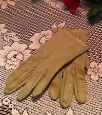 Amazing Vintage Women's Or Girls Leather Gloves Philippines Olive Green 6 1/2