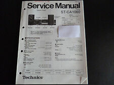 Original Service Manual Technics Tuner ST-CA1060