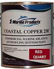 Marine Coastal Copper 250 Ablative Antifouling Bottom Boat Paint Red Quart