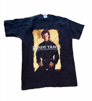 Randy Travis Men's Large Concert T-Shirt Black Short Sleeve Singer Shirt (Ewl)