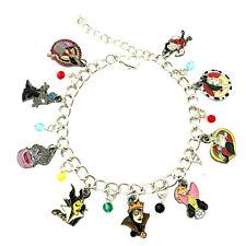 Disney's Villians (9 Themed Charms) Assorted Metal Charm Bracelet