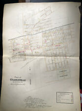 New Listing1883 Coatesville Pa Map Fairview Cemetery To Colfax St Breous Chester County