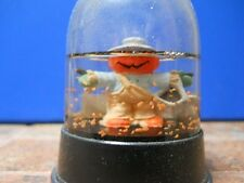 Vintage Halloween Pumpkin Scarecrow Snow Globe, Excellent Original Condition