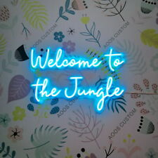 AOOS CUSTOM Welcome To The Jungle Dimmable LED Neon Light Signs For Wall Decor