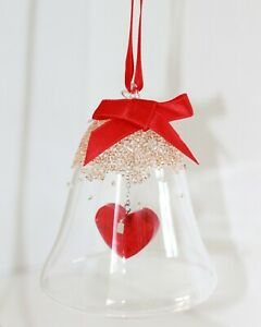 Swarovski Bell Heart Christmas Ornament Original Packaging 5464881 New
