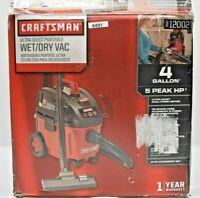 Craftsman Ultra-Quiet 4 Gallon 5 Peak HP Portable Household Wet/Dry Vacuum