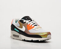 Nike Air Max 90 Gold Reptile Women's Light Bone Sail Lifestyle Sneakers Shoes